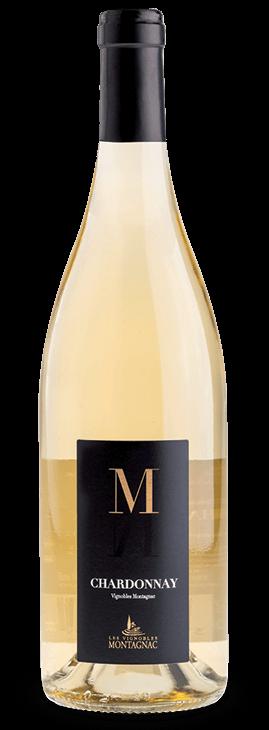 Gamme M IGP Pays d'Oc Chardonnay, les vins de cépages des vignerons de Montagnac Domitienne