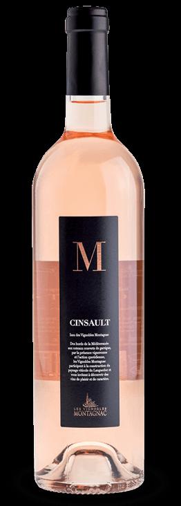 Gamme M IGP Pays d'Oc Cinsault rosé, les vins de cépages des vignerons de Montagnac Domitienne
