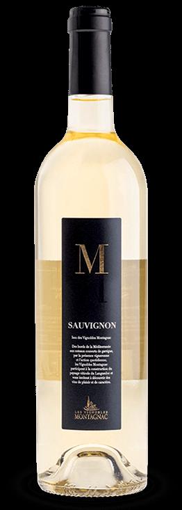 Gamme M IGP Pays d'Oc Sauvignon, les vins de cépages des vignerons de Montagnac Domitienne