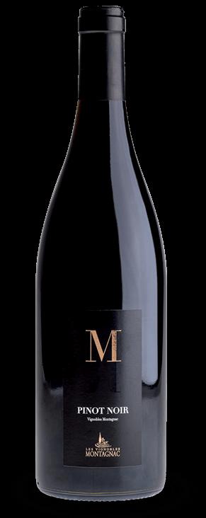 Gamme M Pinot noir, les vins de cépages des vignerons de Montagnac Domitienne