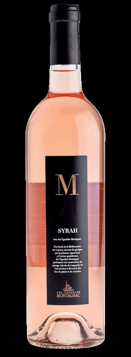 Gamme M Syrah rosé, les vins de cépages des vignerons de Montagnac Domitienne