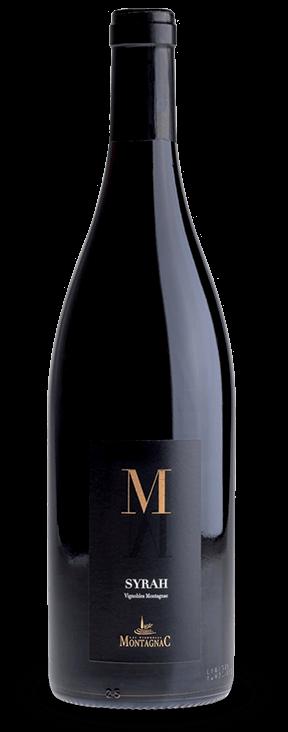 Gamme M Syrah rouge, les vins de cépages des vignerons de Montagnac Domitienne