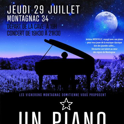 Un piano dans les vignes