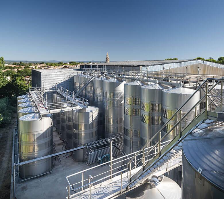 Chais de vinification de Montagnac